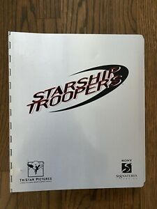 "*STARSHIP TROOPERS ('97) ""Sony Signatures"" Sketches + Script in Metal Binder"