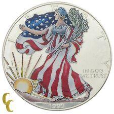 1999 Painted Walking Liberty 1 oz Silver American Eagle w/ Box