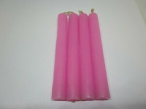 """Spell Candles 4"""" Set of 4 Available in 12 Colors. Mini Taper Magic Ritual Chime"""