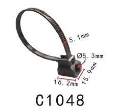 5PCS Fit Toyota LHD Hiace Nylon Push Mount Wire Tie 170mmx5mm