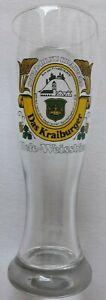 Altes Weizenglas Stolz-Bräu Kraiburg Das Kraiburger Hefe Weissbier 0,5 L. F.Herb