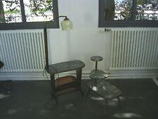 Frühe 60er Jahre Kombination Lesetisch mit Lampe und einer Blumenbank