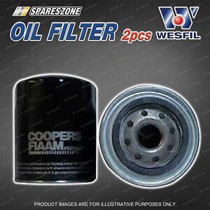 2 x Wesfil Oil Filters for Jaguar XJ12 Series 1 2 XJ6 2 3 Series X300 XJ40 X300