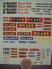 """DECALS DIVERS BOISSON ANISEE PASTIS DE MARSEILLE """" RICARD """" - T301"""