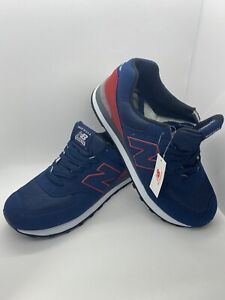 New Balance Custom US574M1 Navy Blue / Red Made In USA Size 9.5 New