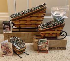 Longaberger Sleigh Basket Combos, Set of 3, including Wrought Iron Sleigh Runner