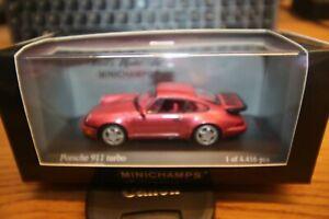 MINICHAMPS     1/43  PORSCHE 911 TURBO 1990  RED   METALLIC   430 069108