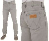 Wrangler Herren Jeanshose Slider Regular Tapered Grau Vintage (Icy Grey) W30-W34