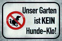 Garten kein Hundeklo Blechschild Schild gewölbt Metal Tin Sign 20 x 30 cm CC0643