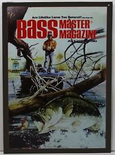 Bass Master Man Fishing Summer Magazine Issue Fish Metal Sign