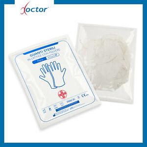 2 Paia di guanti in lattice sterili con polvere M per cassetta pronto soccorso