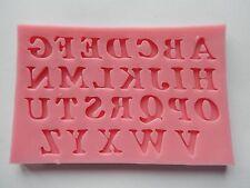 Alphabet Letter Silicone Mould Cake Decorating Fondant Icing Birthday UK