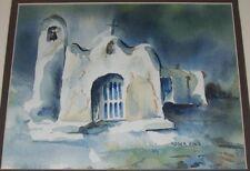 Spanish Mission Roger King Signed Watercolor Southwest Artist Western Art Old 15