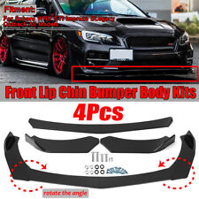 4x Front Bumper Lip Body Kit Splitter Spoiler For Subaru WRX Impreza BRZ Legacy