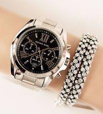 Original Michael Kors Uhr Damenuhr MK5705 BRADSHAW XL Farbe:Silber/Schwarz NEU
