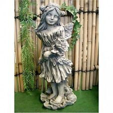 Flowers Fairy Poppy Fantasy Figure Stone Cast, for Garden, New,Frost Resistant