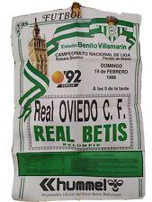 CARTEL PARTIDO REAL BETIS Y REAL OVIEDO CLUB DE FÚTBOL 1989 - EXPO 92
