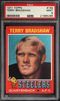 1971 Topps Football | Terry Bradshaw ROOKIE RC Card # 156 | PSA 9 MINT