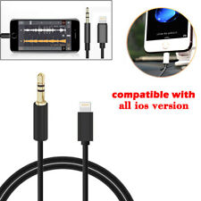 For iPhone 7 8 X XS XR Lightning to 3.5mm Male Jack Audio Music Adapter Cable UK