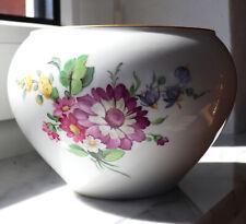 Vase Porzellan KPM Kunst Zepter Marke Goldrand Blumen Dekor Handbemalt Monogramm