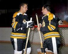 Ed Johnston, Ken Hodge Boston Bruins 8x10 Photo