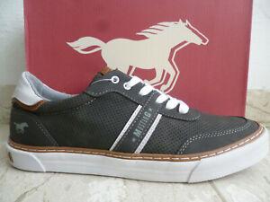 Mustang Baskets pour Homme Chaussures de Sport à Lacets Gris 4163 Neuf