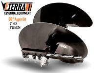 """Eterra Auger Bit - 36"""" - Fits Skid Steer, Excavator & Mini Skid Auger Attachment"""