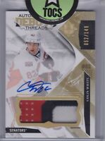 Colin White 2017-18 UD Ultimate Collection Auto Patch Debut Threads 052/149 Otta