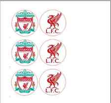 Liverpool cupcake toppers 6 choose design