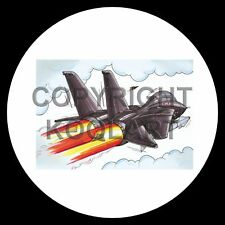 Koolart 4x4 4 x 4 roue de secours graphique avions Tomcat Jet Fighter Autocollant 241