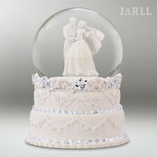 Purple Rain Forest Music box snow globe WaterGlobe - wedding cake