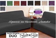 Conjunto de Fundas de sofa adaptables Duo marron chocolate