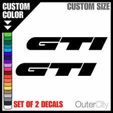 2x GTI Decal - VW Volkswagen Golf Racing Rabbit Jetta Car Bumper Sticker Label