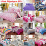 Duvet Cover with Pillow Case Quilt Cover Bedding Set Single Double King All