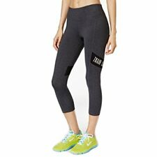 Ideology Womens Cropped Leggings Charcoal Size Small