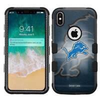 for Apple iPhone X (Ten) Armor Impact Hybrid Cover Case Detroit Lions #BG