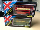 Solido AEC RT London Country & Transport Double Decker Buses Pair 1:50 Red Green