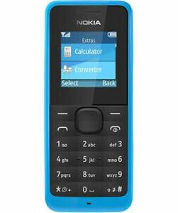 Brand New Nokia 106 - Blue Single Sim (Unlocked) Mobile Phone Basic UK Seller