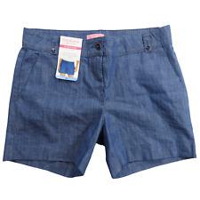 NWT Isaac Mizrahi Blue Denim Tailored Women's Shorts Size 14