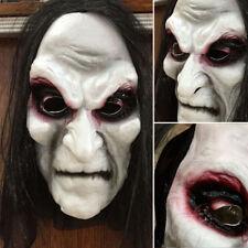 Halloween Black Long Hair Mask Full Head Horror Mask Party Cosplay Ghost
