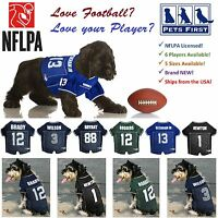 NFLPA Jersey for Dogs & Cats. 6 NFL Players available in 5 sizes! NEW! LICENSED!