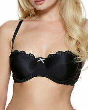 55d3eada36ec7 Lepel Womens Athena Strapless Bra Size 32b in Black