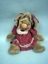 "Ganz 16"" Wrinkles The Dog Puppet - All Original"