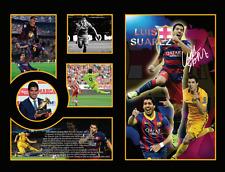 New Luis Suarez Signed Barcelona Limited Edition Memorabilia Framed