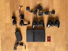Sony PlayStation 2 Slim Schwarz Spielekonsole (PAL - SCPH-75004)