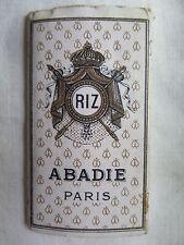 CIGARETTE ROLY PAPERS RIZ ABADIE PARIS FRANCE approx 60 LEAVES UNUSED c1940s
