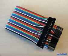 40x Cable 1Pin Dupont 30cm Hembra Hembra - FEMALE TO FEMALE WIRE ARDUINO BOARD