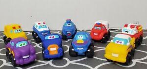 HASBRO Tonka Chuck And Friends Soft Mini Chunky Cars, trucks, Lot Of 9 Vehicles