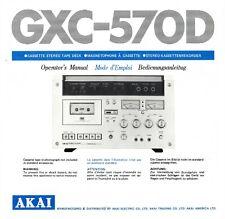 Bedienungsanleitung-Operating Instructions für Akai GXC-570 D