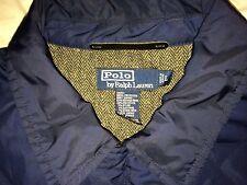 Ralph Lauren Navy Rugby Blue Quilted Jacket Tweed Herringbone Inside hm